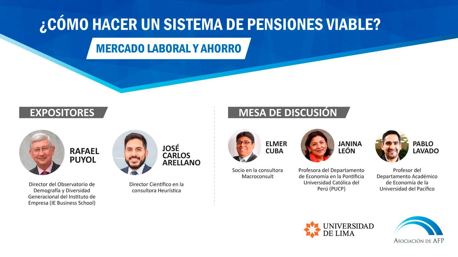 """Conferencia: """"¿Cómo hacer un sistema de pensiones viable? Mercado laboral y ahorro"""""""